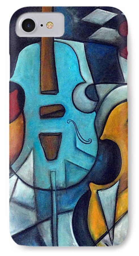 Music IPhone 7 Case featuring the painting La Musique 2 by Valerie Vescovi