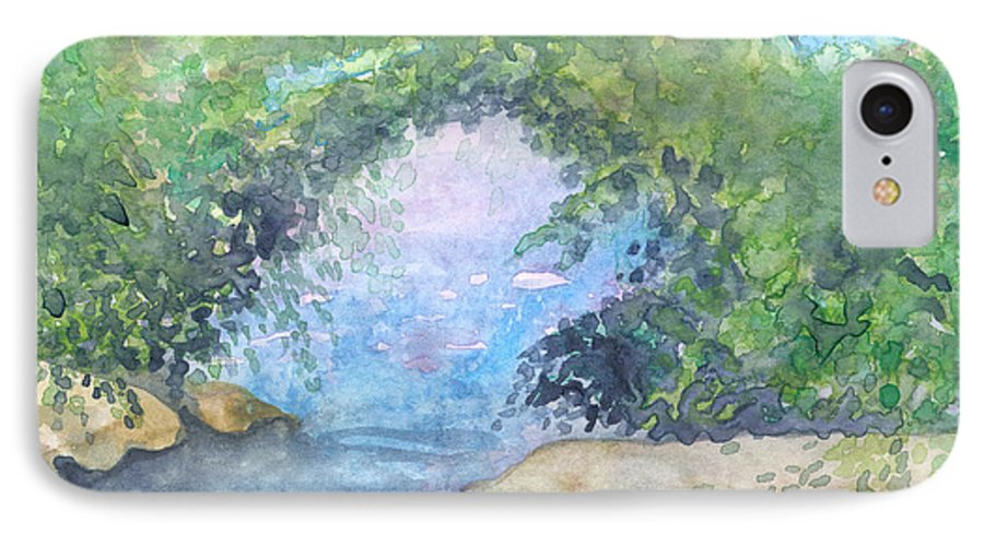 Landscape IPhone 7 Case featuring the painting Landscape 2 by Christina Rahm Galanis