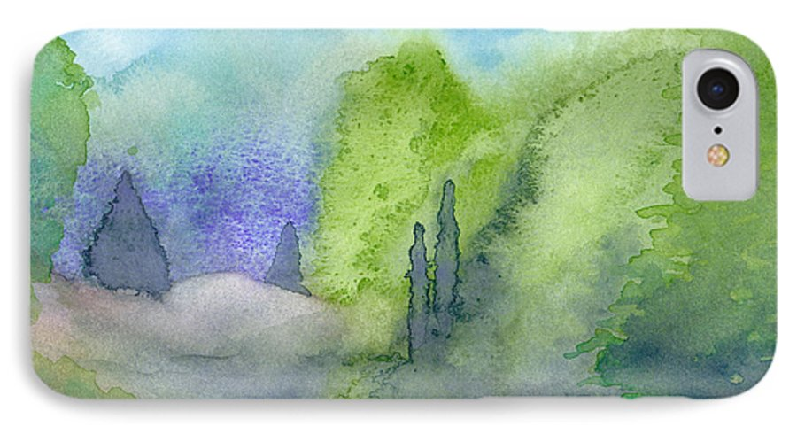 Landscape IPhone 7 Case featuring the painting Landscape 3 by Christina Rahm Galanis