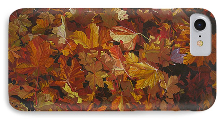 Fall IPhone 7 Case featuring the painting Last Fall In Monroe by Thu Nguyen