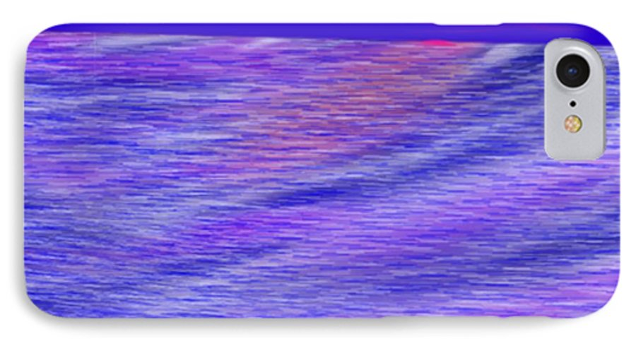 Sky.stars.sea.reflection.waves.evening.rest.silence. IPhone 7 Case featuring the digital art Last Ray Of Sun by Dr Loifer Vladimir