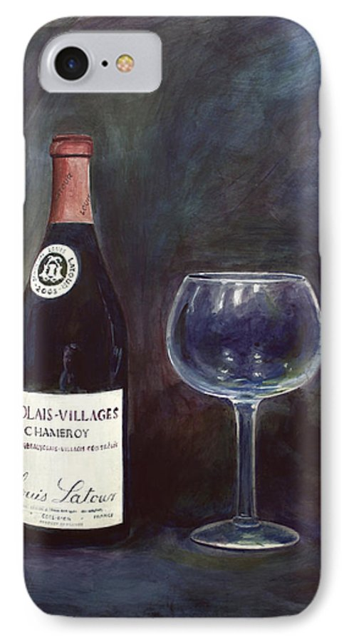 Lime Painting IPhone 7 Case featuring the painting Latour Wine Buon Fresco 3 Primary Pigments by Don Jusko