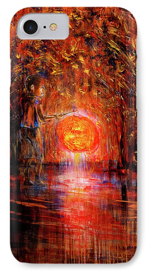 Lantern IPhone 7 Case featuring the painting Light by Nik Helbig