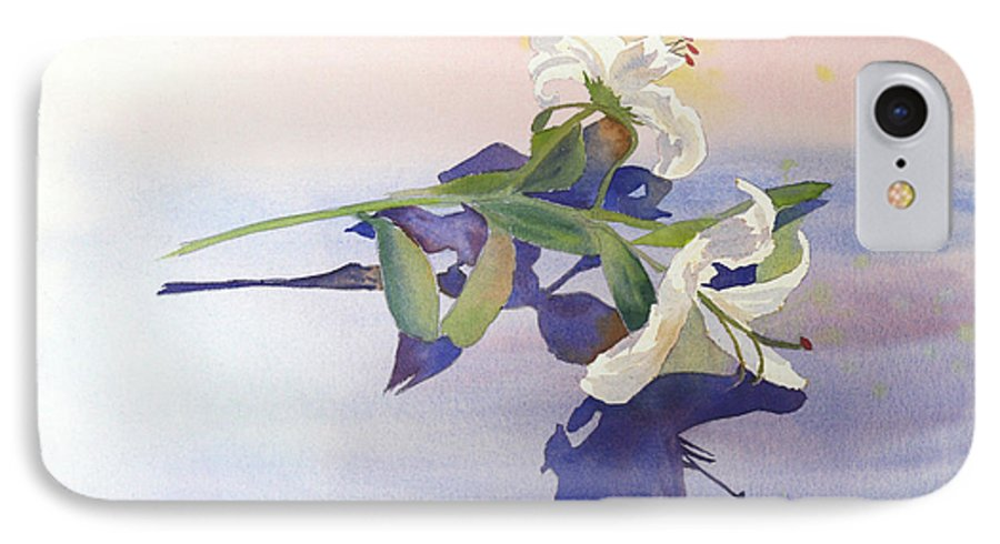 Lily IPhone 7 Case featuring the painting Lilies At Rest by Patricia Novack