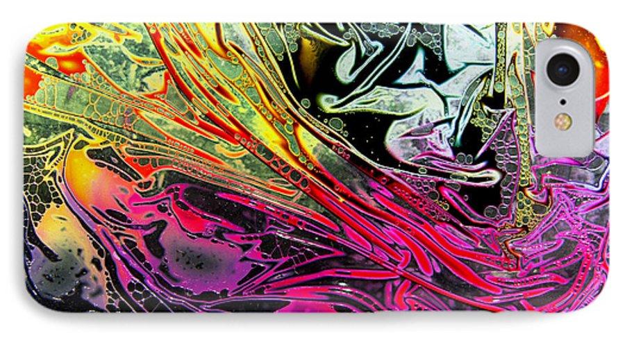 Surrealism IPhone 7 Case featuring the digital art Liquid Decalcomaniac Desires 1 by Otto Rapp