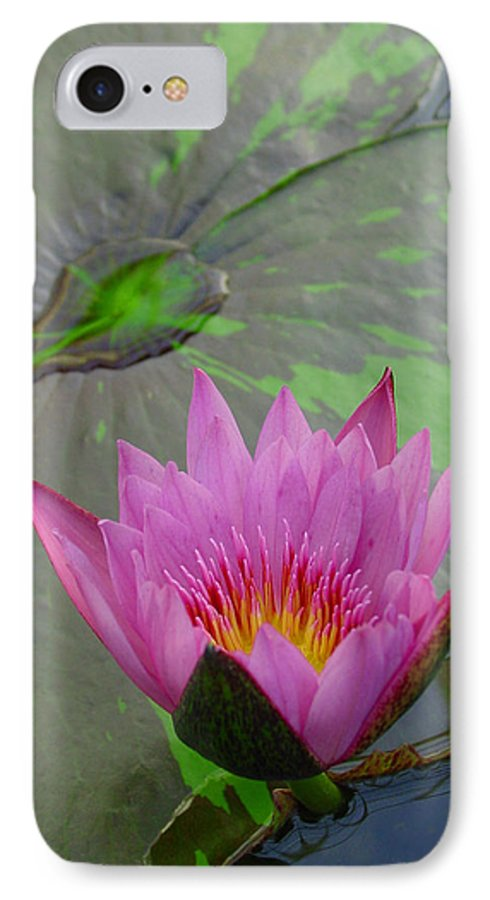 Lotus IPhone 7 Case featuring the photograph Lotus Blossom by Suzanne Gaff