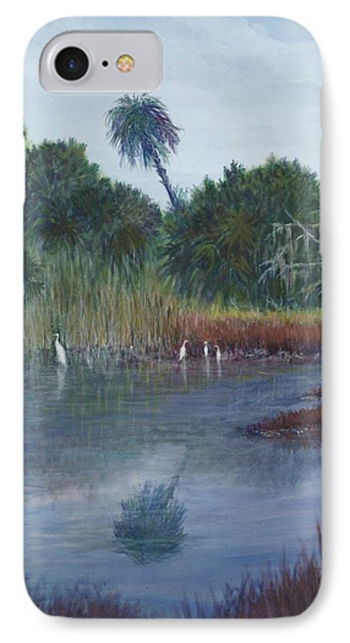 Landscape IPhone 7 Case featuring the painting Low Country Social by Ben Kiger