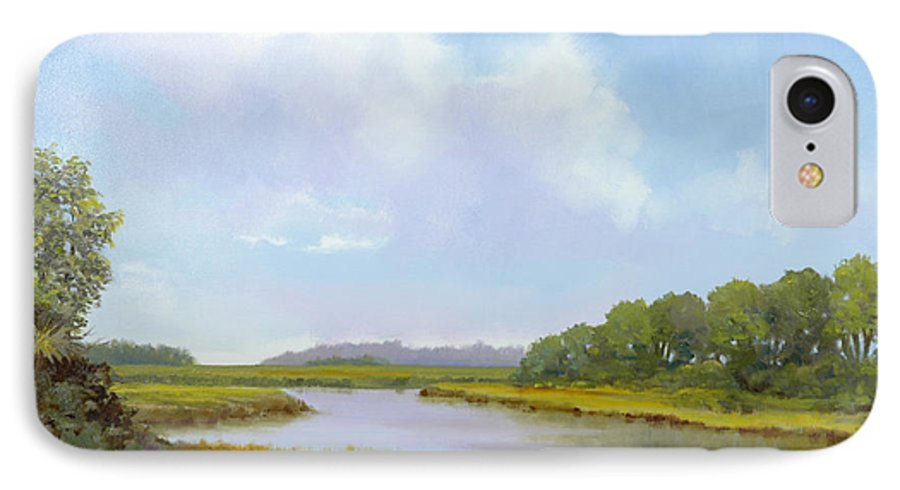 St. Simons IPhone 7 Case featuring the painting Lowcountry Afternoon by Glenn Secrest