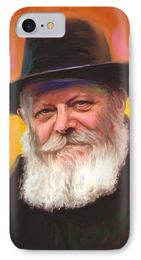 Lubavitcher Rebbe IPhone 7 Case featuring the painting Lubavitcher Rebbe by Sam Shacked