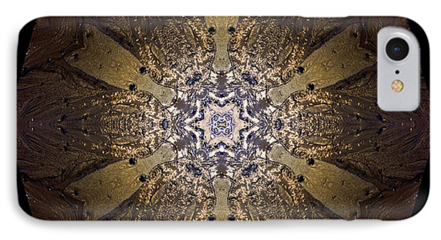 Mandala IPhone 7 Case featuring the photograph Mandala Sand Dollar At Wells by Nancy Griswold
