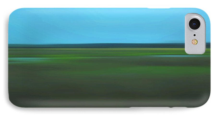 Abstract IPhone 7 Case featuring the photograph Marsh Blur by Suzanne Gaff