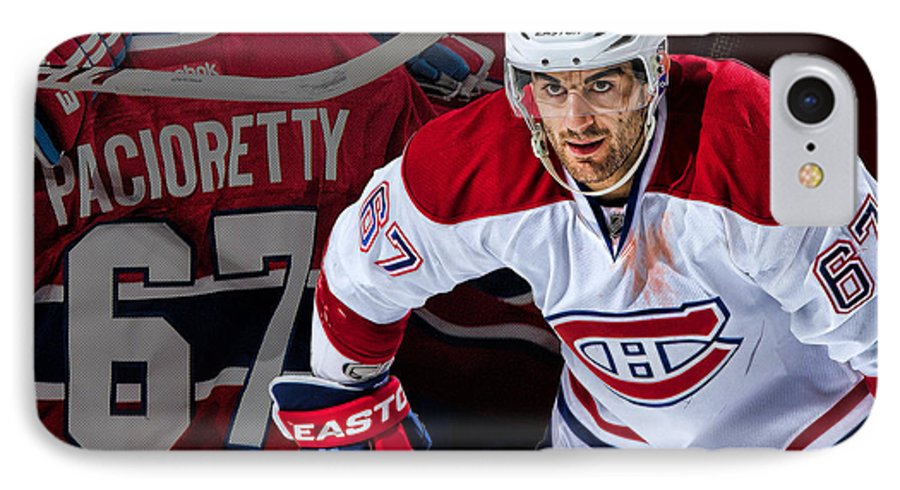 Max Pacioretty IPhone 7 Case featuring the digital art Pacioretty Poster by Nicholas Legault