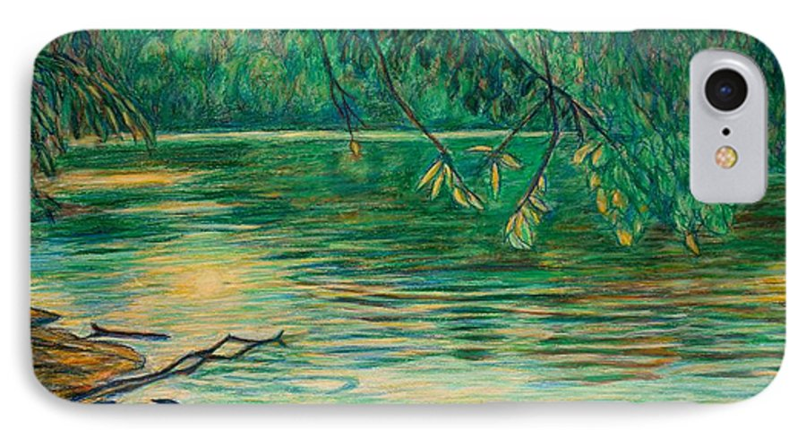 Landscape IPhone 7 Case featuring the painting Mid-spring On The New River by Kendall Kessler