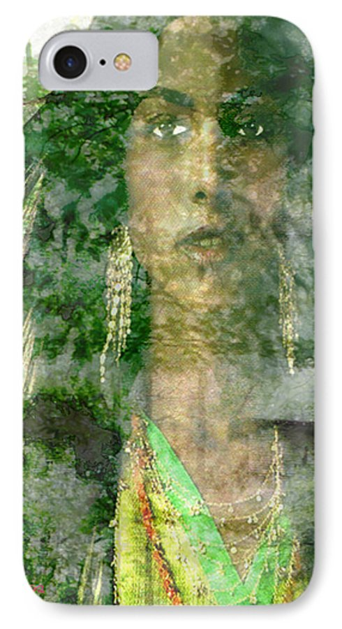 American Indian IPhone 7 Case featuring the digital art Mistress Of The Wind by Seth Weaver