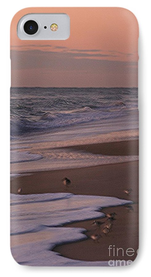 Beach IPhone 7 Case featuring the photograph Morning Birds At The Beach by Nadine Rippelmeyer