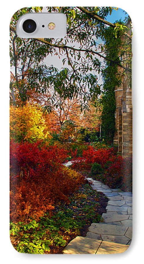 National Cathedral IPhone 7 Case featuring the photograph National Cathedral Path by Mitch Cat