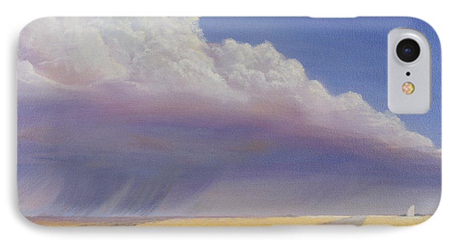 Landscape IPhone 7 Case featuring the painting Nebraska Vista by Jerry McElroy