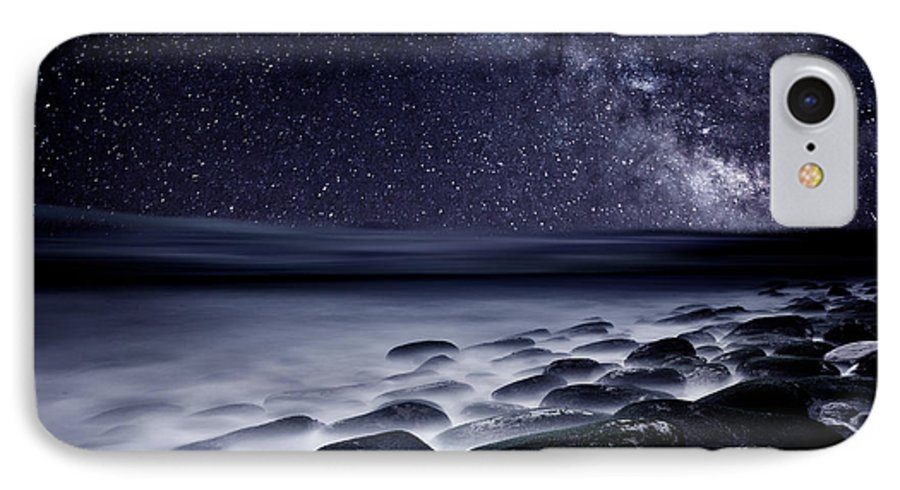 Rocks IPhone 7 Case featuring the photograph Night Shadows by Jorge Maia
