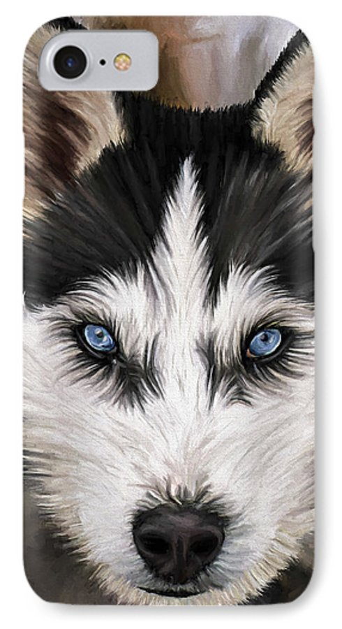 Dog Art IPhone 7 Case featuring the painting Nikki by David Wagner