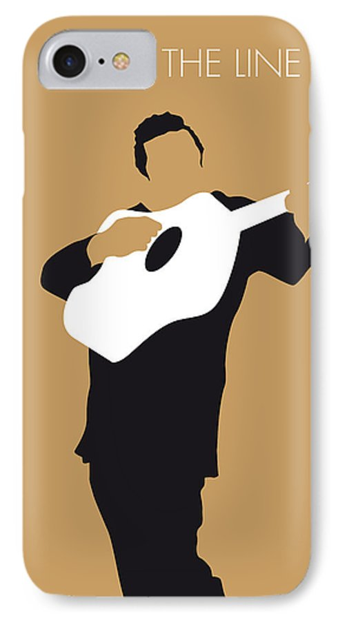 Johnny IPhone 7 Case featuring the digital art No010 My Johnny Cash Minimal Music Poster by Chungkong Art
