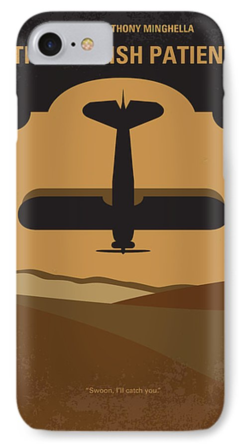 English IPhone 7 Case featuring the digital art No361 My The English Patient Minimal Movie Poster by Chungkong Art