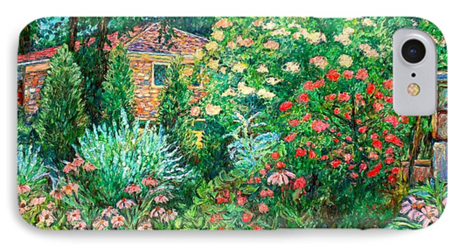 Garden IPhone 7 Case featuring the painting North Albemarle In Mclean Va by Kendall Kessler