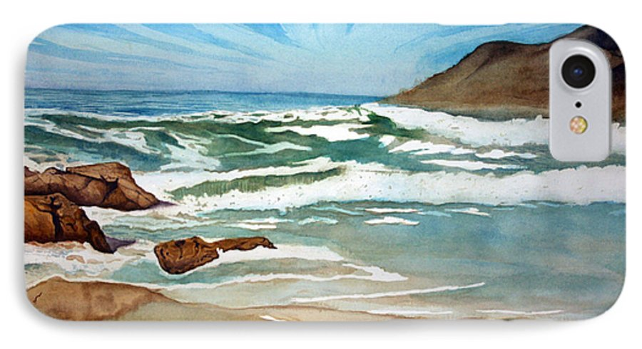 Rick Huotari IPhone 7 Case featuring the painting Ocean Side by Rick Huotari
