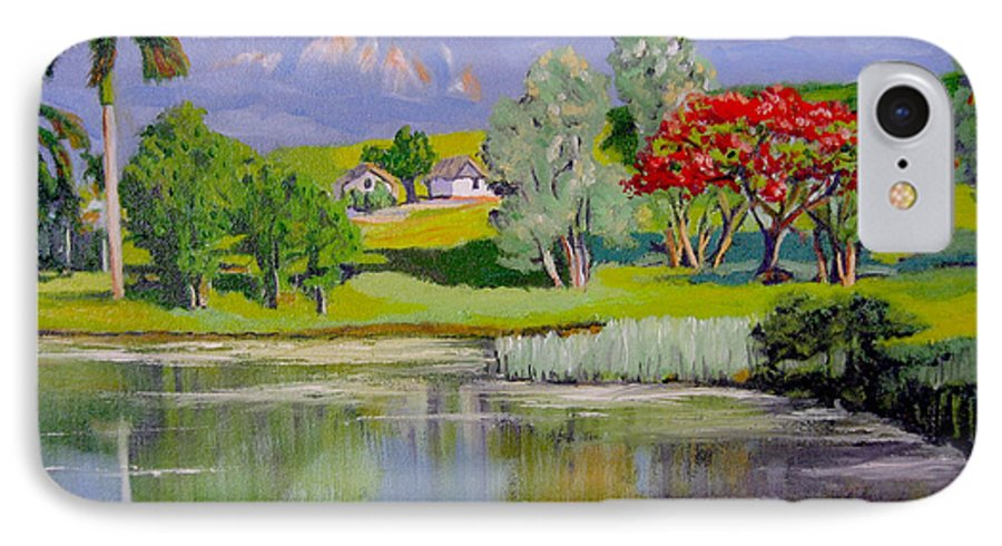 Oil IPhone 7 Case featuring the painting Old Farm by Jose Manuel Abraham