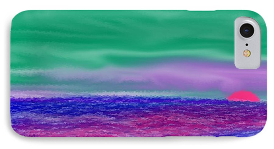 Morning IPhone 7 Case featuring the digital art One Simple Morning by Dr Loifer Vladimir
