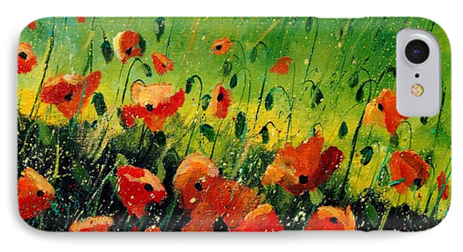Poppies IPhone 7 Case featuring the painting Orange Poppies by Pol Ledent