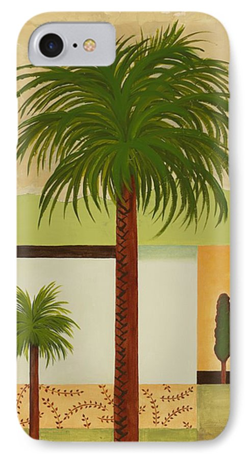 Palm Trees IPhone 7 Case featuring the painting Palm Desert by Carol Sabo