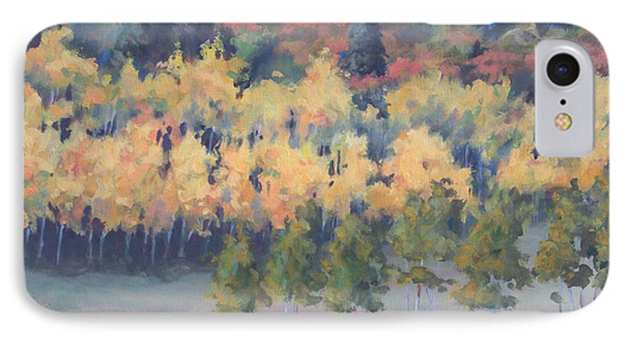 Landscape IPhone 7 Case featuring the painting Park City Meadow by Philip Fleischer