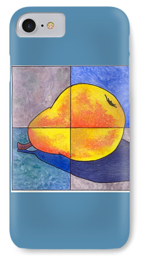 Pear IPhone 7 Case featuring the painting Pear I by Micah Guenther