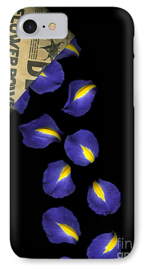 Scanography IPhone 7 Case featuring the photograph Petal Chips by Christian Slanec