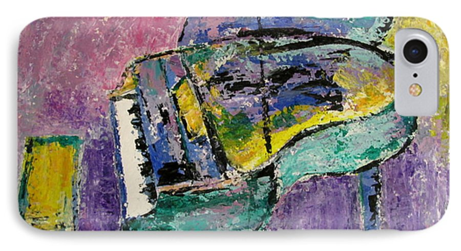 Impressionist IPhone 7 Case featuring the painting Piano Green by Anita Burgermeister