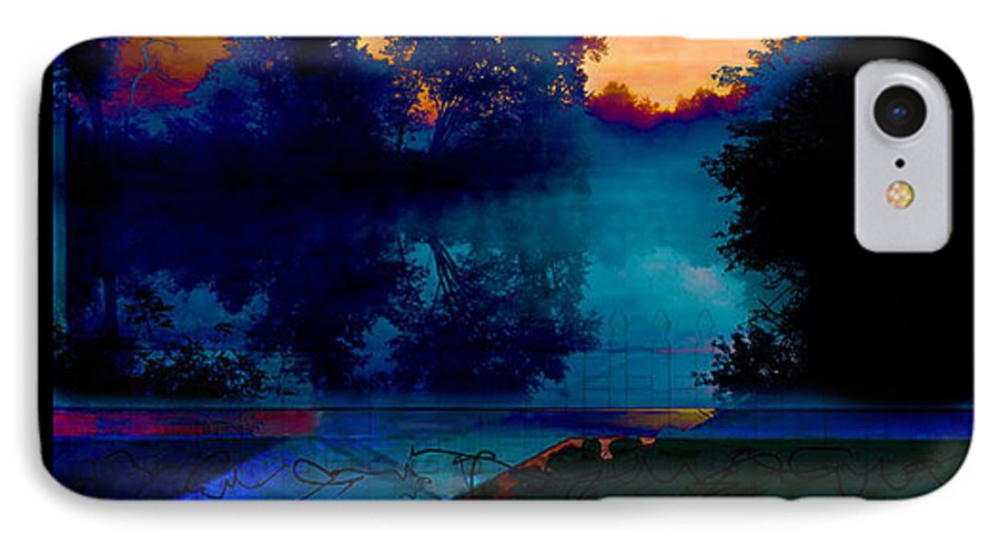 Trees IPhone 7 Case featuring the digital art Picket Fences by Sven Anderson