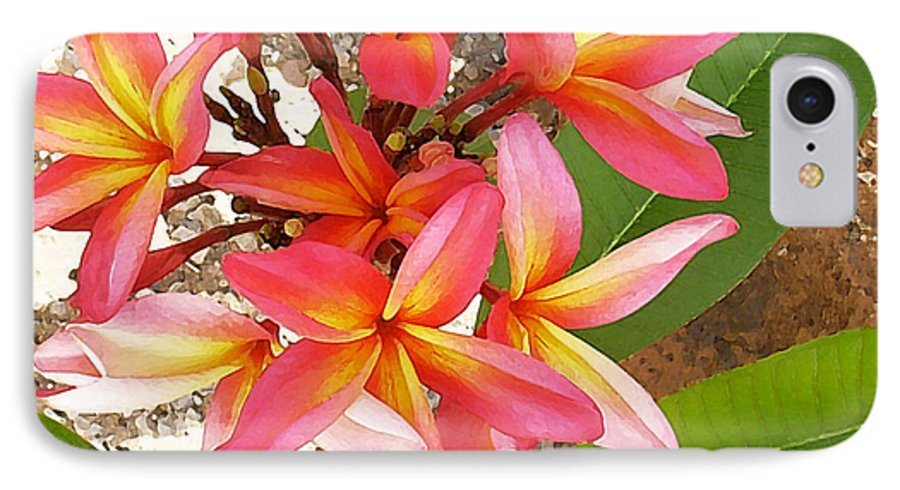 Hawaii Iphone Cases IPhone 7 Case featuring the photograph Plantation Plumeria by James Temple