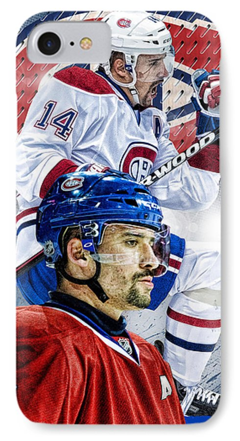 Tomas Plekanec IPhone 7 Case featuring the digital art Plekanec Phone Cover by Nicholas Legault