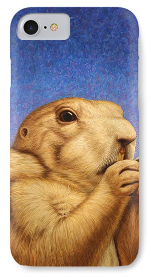 Prairie Dog IPhone 7 Case featuring the painting Prairie Dog by James W Johnson