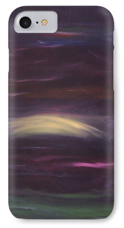 Purple IPhone 7 Case featuring the painting Purple Night by Lindsay Clark