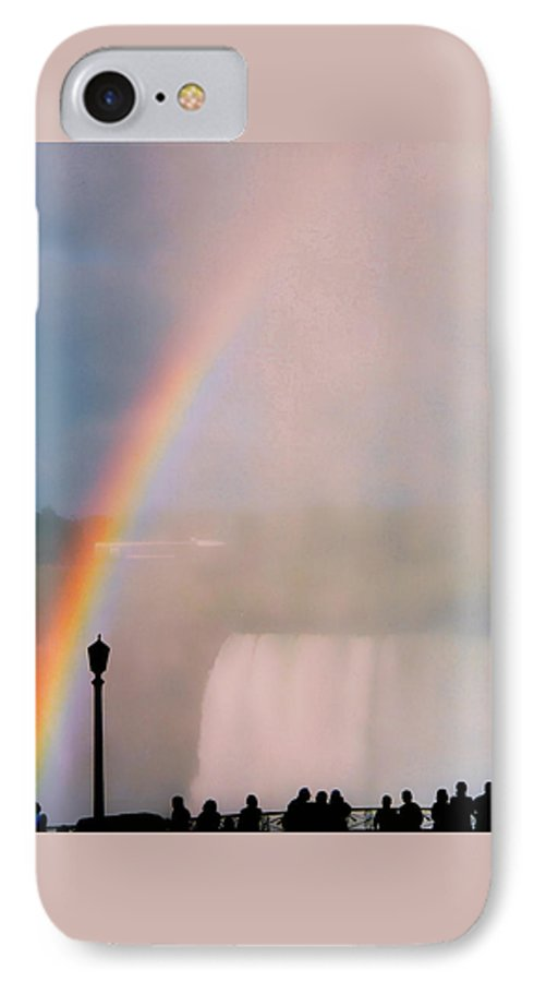 Rainbow IPhone 7 Case featuring the photograph Rainbow Falls by Pharris Art