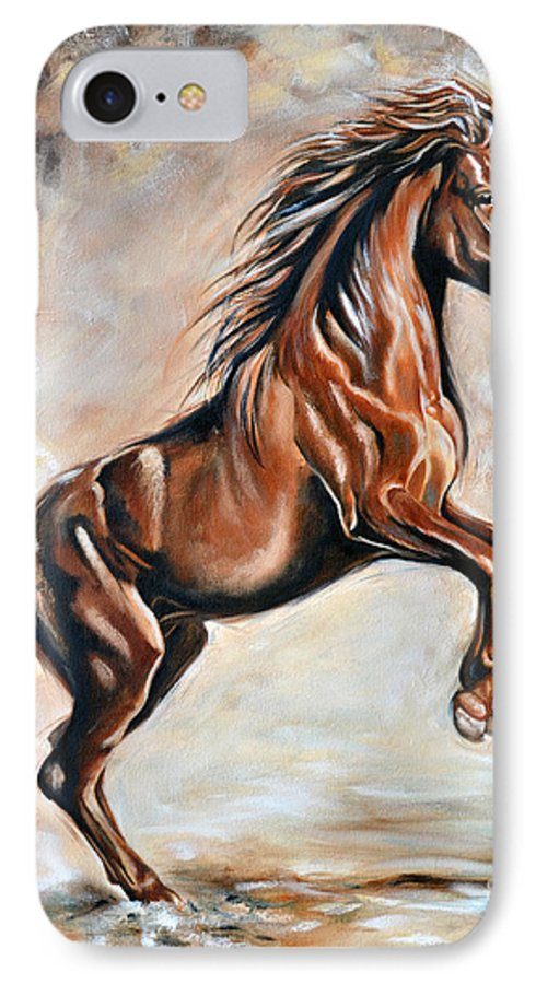 Horse IPhone 7 Case featuring the painting Red Beauty by Ilse Kleyn