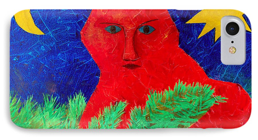Fantasy IPhone 7 Case featuring the painting Red by Sergey Bezhinets