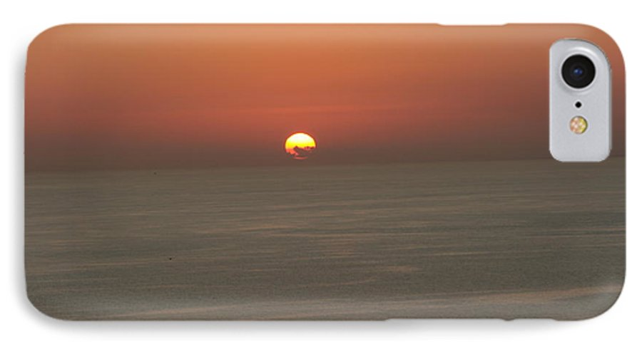 Red Sunset Over Sea IPhone 7 Case featuring the photograph Red Sunset Over Sea by Gordon Auld