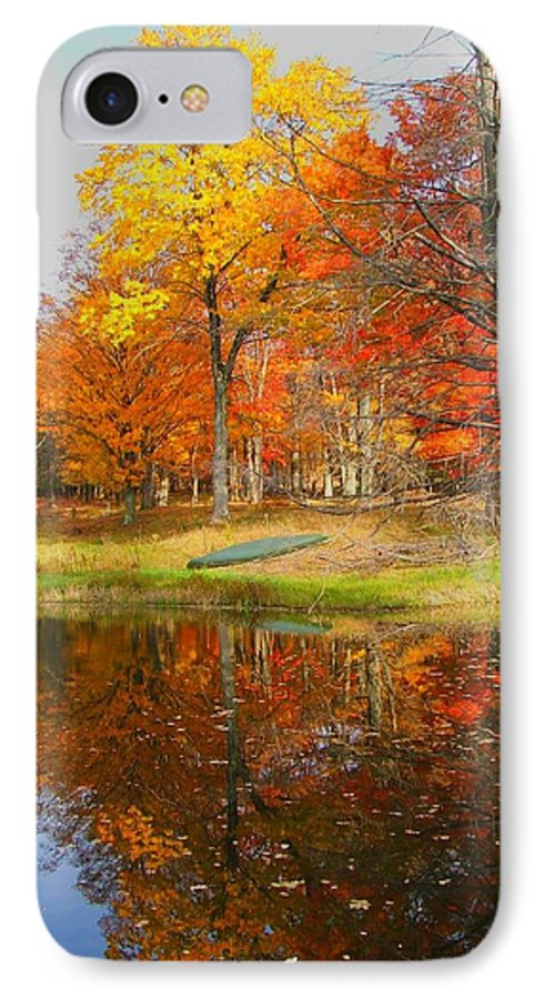 Fall IPhone 7 Case featuring the photograph Reflections Of Autumn by Judy Waller