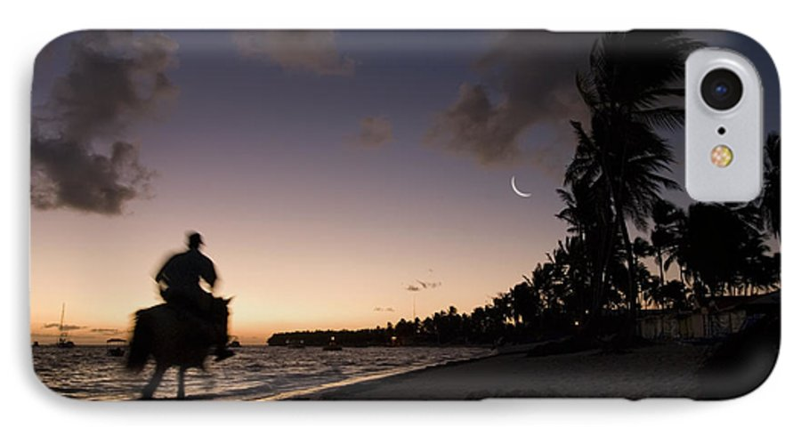 3scape IPhone 7 Case featuring the photograph Riding On The Beach by Adam Romanowicz