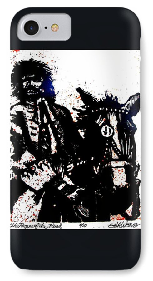 English Highwayman IPhone 7 Case featuring the mixed media Rogue Of The Road by Seth Weaver