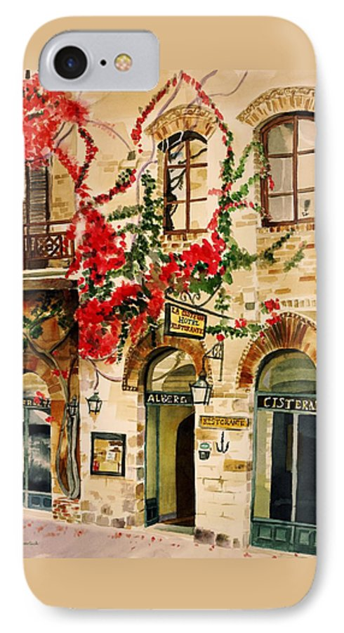 Award-winning IPhone 7 Case featuring the painting San Gimignano by Judy Swerlick