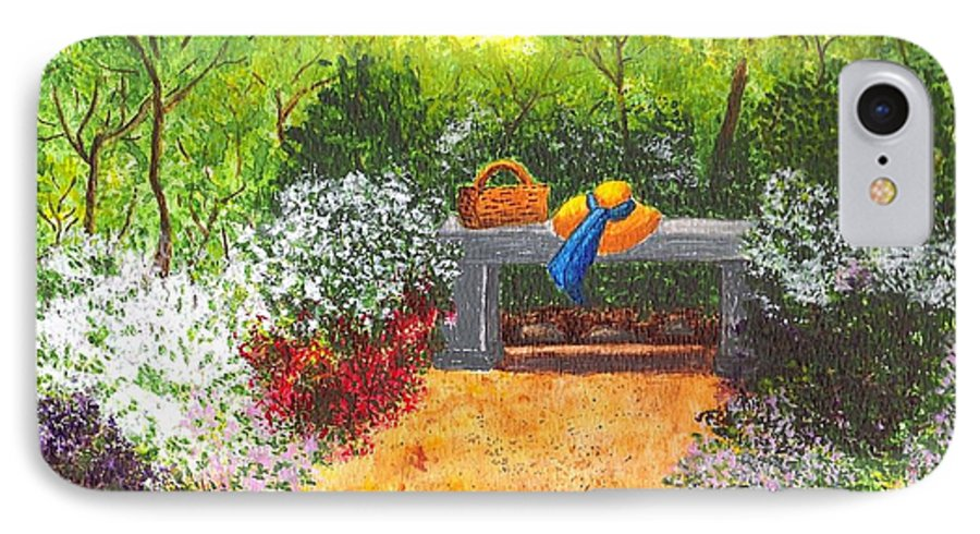 Garden Painting IPhone 7 Case featuring the painting Sanctuary by Patricia Griffin Brett