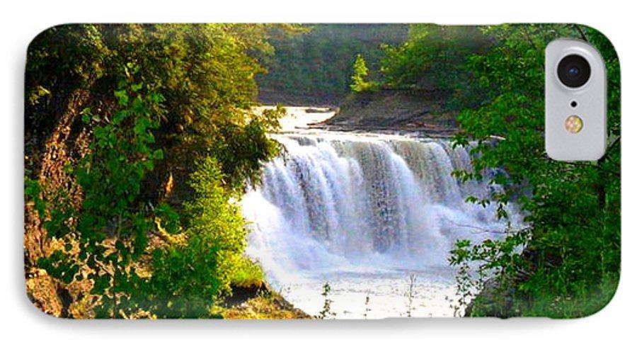 Falls IPhone 7 Case featuring the photograph Scenic Falls by Rhonda Barrett